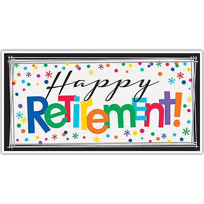 1.6m Officially Retired Happy Retirement Party Giant Sign Banner Decoration