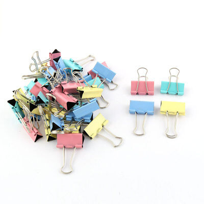 School Office Home Metal Paper File Organizer Binder Clips Assorted Color 36 Pcs