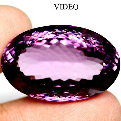 56.22 Ct Aaa! Natural! Big! Purple Clr Change To Pink Brazil Amethyst Oval