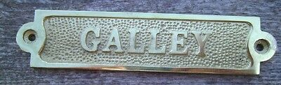 Solid Brass GALLEY Sign Plaque Nautical Ship Boat Decor NEW FREE SHIPPING #2