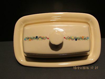 """Fiesta Ware """"christmas Tree"""" Pattern Butter Dish With Lid..new"""