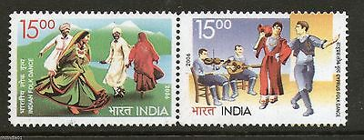India 2006 Cyprus Joints Issue Folk Dance Costume Sc 2179 / SG 2324-25 MNH