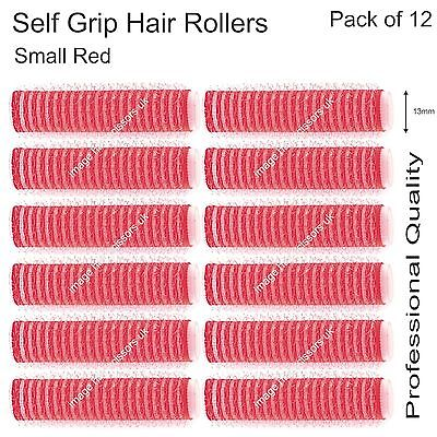 Soft Self Grip Cling Hair Curling Rollers RED SMALL 13mm Professional Pack 12
