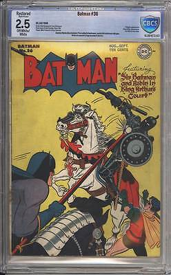 Batman # 36  In King Arthur's Court !  CBCS 2.5 scarce Golden Age book !