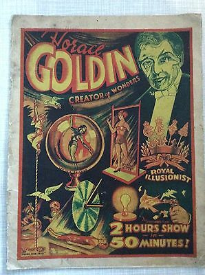 Horace Goldin Creator Of Wonders,Magicians Magazine,1938,Vintage,Illusions