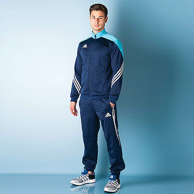 Mens adidas Mens Sereno 14 Tracksuit in Navy - XL From Get The Label