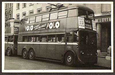 Real Photo Postcard Size London Transport Trolley Bus Stamford Hill Route 683