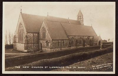 REAL PHOTO POSTCARD ST LAWRENCE NEW CHURCH VENTNOR ISLE OF WIGHT c1915