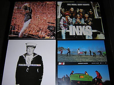 """3 Inxs Album Sleeves + Promotional 12""""x12"""" Card"""