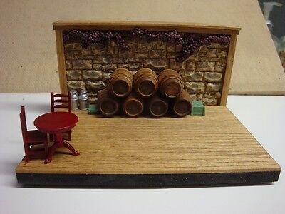 Scenic Mouse Wine Barrel  Display for Wee Forest Folk