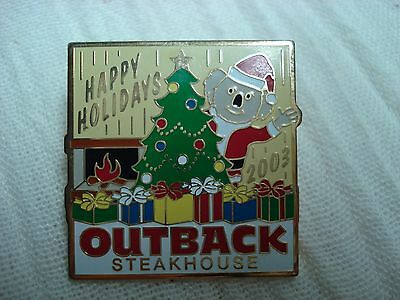 lot-g outback steakhouse 2003 happy holidays 2003 Christmas tree pin