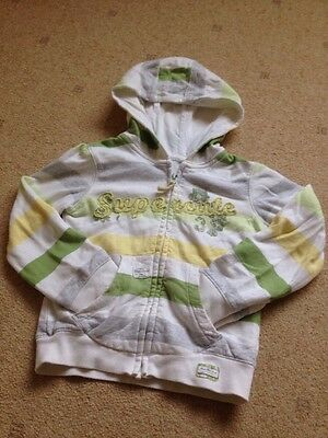Girls Hoodie Jacket Age 4-5 Next White Yellow And Green