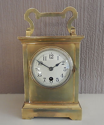 Victorian French brass case  Mantel Clock Fully Working  2620