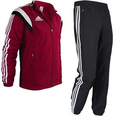 Adidas Con14 PRE Men's Tracksuit red/black/whit Jogging Fitness Training Set NEW