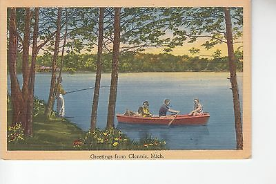 Rowing Greetings from Glennie MI Mich      70032