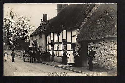 South Littleton Post Office - real photographic postcard