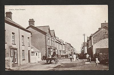 Borth - High Street -  printed postcard