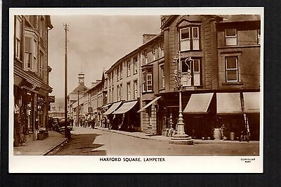 Lampeter - Harford Square - real photographic postcard