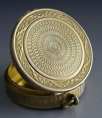 VERY HIGH QUALITY FRENCH SILVER GILT BOX c1900 ANTIQUE
