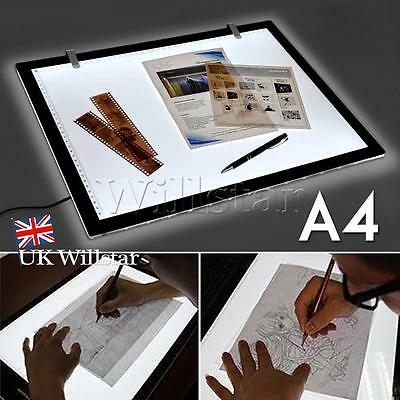 Ultra Thin A4 LED Copy Board Craft Tracing Drawing Stencil Table Pad Light Box