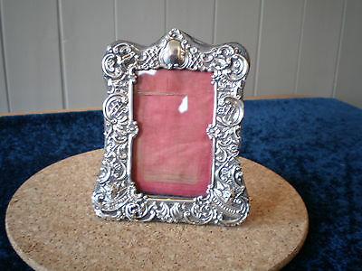 beautiful antique solid silver picture frame chester 1898