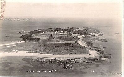 Rare Old Real Photo Postcard - Herm From The Air - Channel Islands  1954