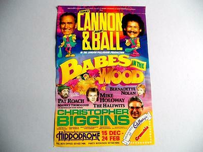 Theatre Flyer - Cannon & Ball Babes In The Wood, Birmingham Hippodrome 1989-1990