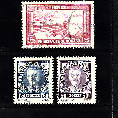 Three very nice old Monaco 1930's issues