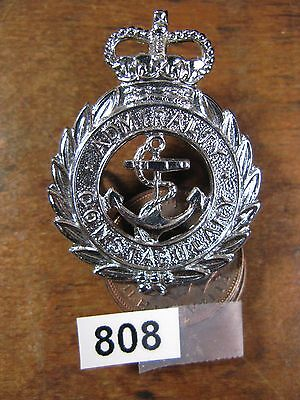 Vintage obsolete police cap badge admiralty constabulary 808