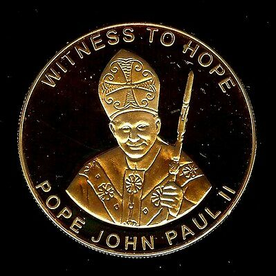 Witness To Hope 2003 10 Kwacha -Pope John Paul Ii- Perfect Proof Deep Cameo