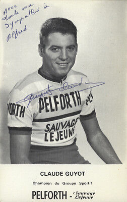 cyclisme ciclismo cycling wielrennen CLAUDE GUYOT signé