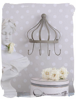 Hook Rail Metal Crown Hook Wardrobe Hangers Shabby Chic