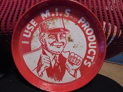 Vintage M.I.S Products metal Advertising Tray