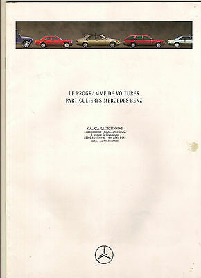 Mercedes Gamme Catalogue 23 Pages 1991 Format A4 France