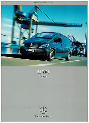 MERCEDES VITO CATALOGUE 35 PAGES 2004 format A4 FRANCE
