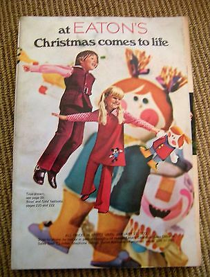 Vtg 1971 EATONS Canada Department Store Catalog Toys Mod Barbie Fisher Price ++