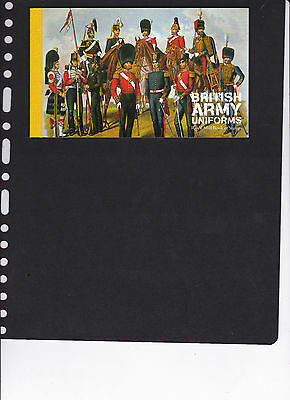 British Army Uniforms Prestige Booklet and Fdc