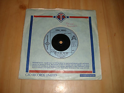 """Donna Summer  - Love To Love You Baby (Gto 7"""")"""