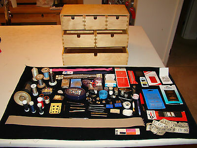 Sewing Cabinet/ Organiser Chest With Accessories(Needles,threads, Zips, Pins)