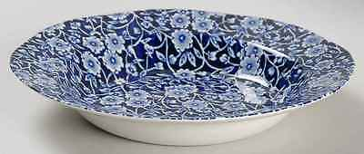 Staffordshire CALICO BLUE (BURLEIGH STAMP) Rimmed Soup Bowl 5970816