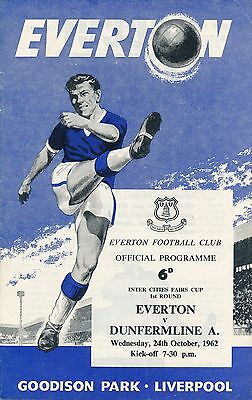 EVERTON v Dunfermline (Inter Cities Fairs Cup) 1962/3