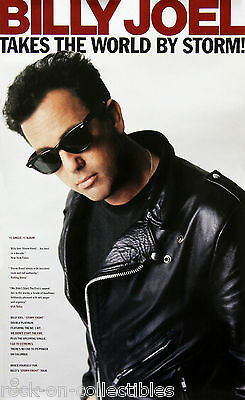 Billy Joel 1989 Takes The World By Storm Original Promo Poster Rare