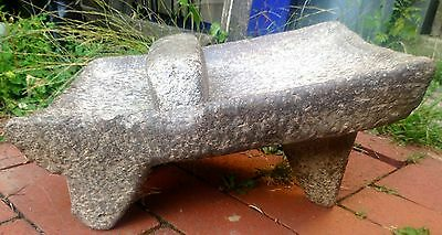 Ancient Aztec Mexican metate y mano for maize nixtamal Volcanic Grinding Stone