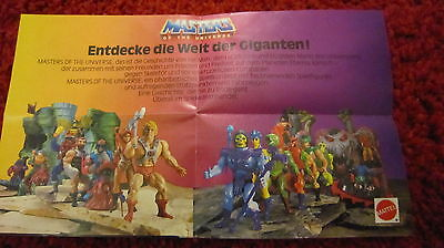 Masters of the Universe Werbeflyer