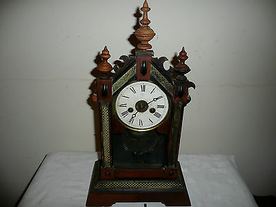 Antique Junghans, Shelf / Mantle Clock with Alarm, for Restoration. Circa 1910.