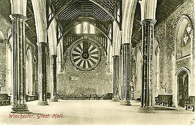 Vintage Postcard. Winchester, Great Hall. Unposted