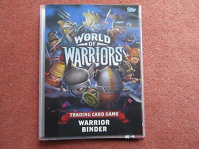 Topps World Of Warriors Trading Card Binder, Some Stickers, Mat, Guide