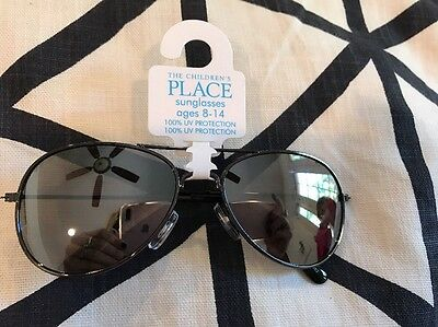 The Childrens Place Boys Aviator sunglasses UVA protection NEW 8-14