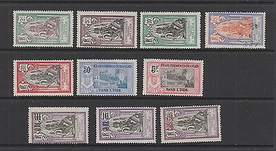French Indian Settlements 1922 issues SG 52 -61 MH or fine used