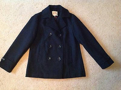 Girls M&S Marks & Spencer black Pea coat age 11-12 years